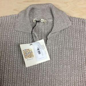 Maurizio Baldassari Linen Knit Polo Sweater